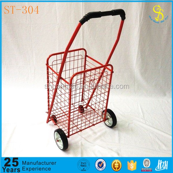 Guangzhou factory small portable folding shopping cart, small shopping carts with wheels, used shopping carts sale