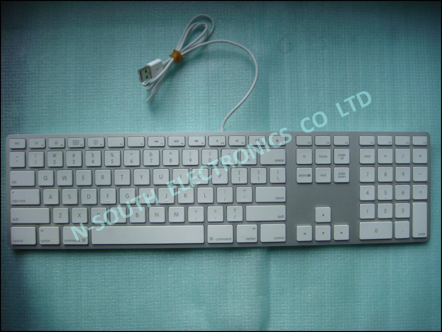 Wholesale price computer keyboard for apple g6 with wire US layout white