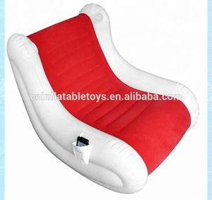 Factory inflatable rock chair , inflatable s shape sofa with speaker OEM orders