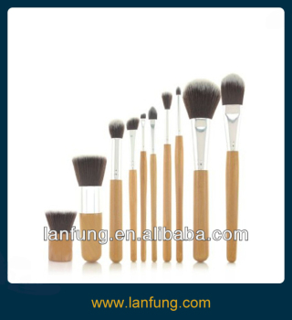 Professional 10pcs Makeup Brush /Bamboo brush set ( high quality synthetic hair )