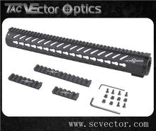 "Vector Optics Tactical Hunting Polymer 16.5"" Inch KeyMod Handguard Mount Picatinny Rail For AR15 Light Weight China Manufacturer"