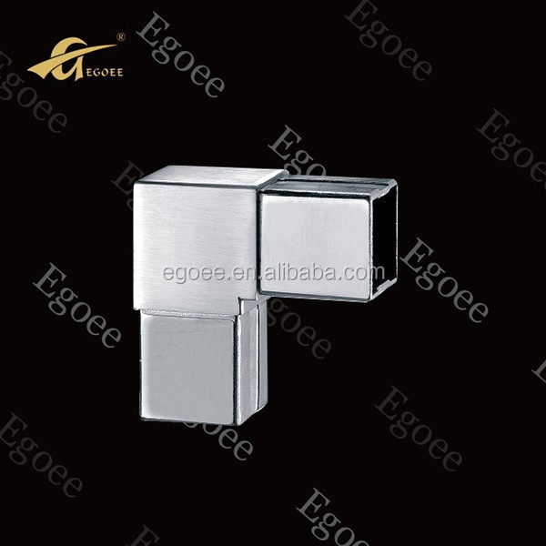AISI 304 316 stainless steel square tube connector/90 degree square tube elbow/handrail accessories