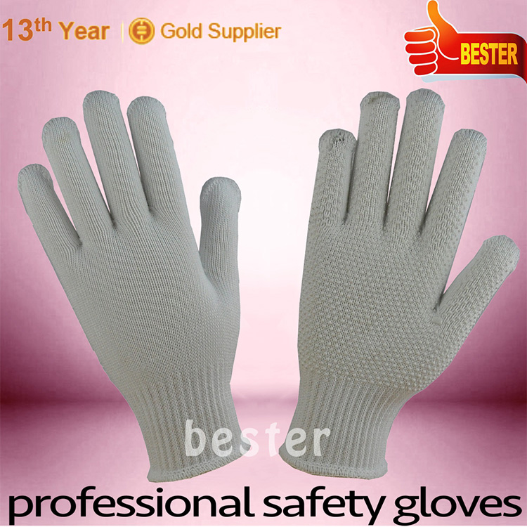 Newly latest magic stretch knit gloves with pvc dots