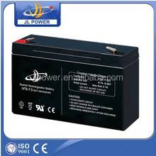 Guangzhou JL 6V7ah battery, uk battery, 6v7ah 20hr battery for solar led street light.