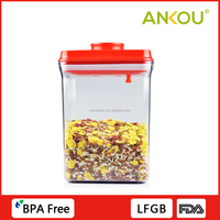 Environmental AS Material 2300ml Rectangle Fresh Food Container For Fruit And Vegetables