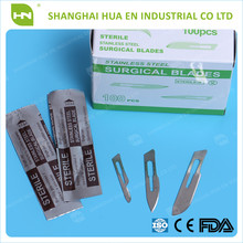 Disposable medical Sharp point stainless steel surgical blade made in China