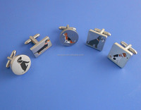 Custom fashion enamels cuff links with epoxy