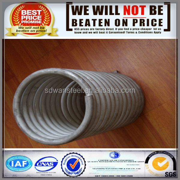 300 Series Stainless Steel coiled tubing heat exchanger ss coil pipe
