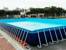 waterproof PVC tarpaulin 25 meter freestanding swimming pool
