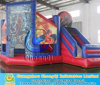 New Spiderman inflatable combo slide for sale