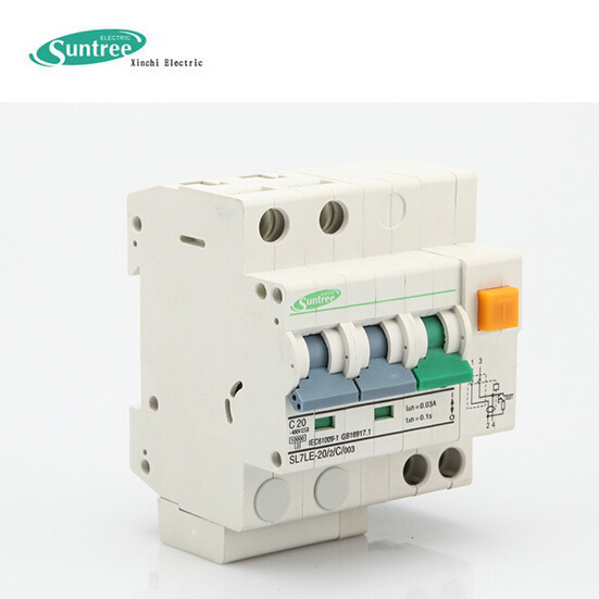 Earth Leakage Circuit Breaker ELCB SL7LE RCD With Overload Protect