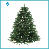 7ft PE with white top mixed pvc artificial christmas tree, nice frost artificial christmas tree