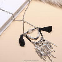 New style charm fashion jewelry pendant long chain necklace with tassel