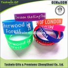 Custom logo and colorful silicone rubber wristband