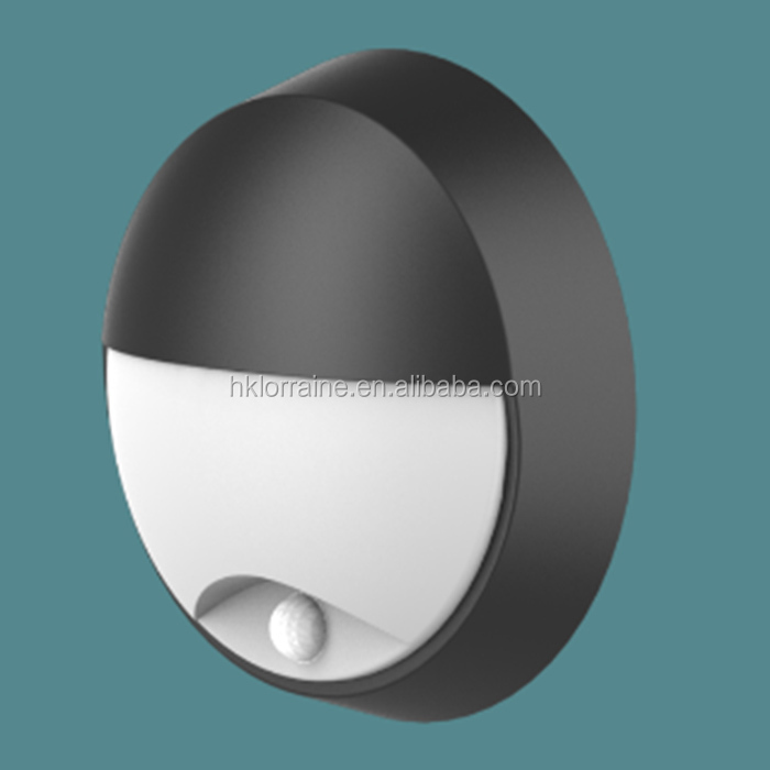 Aluminum PC material round waterproof IP54 IP65 10W 14W exterior LED bulkhead wall lights