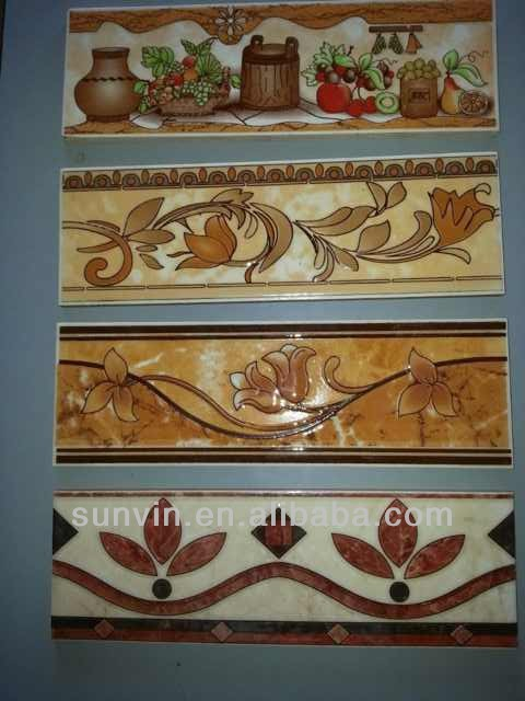 25x8cm listello glazed,gold,silver,platinum,unglazed border