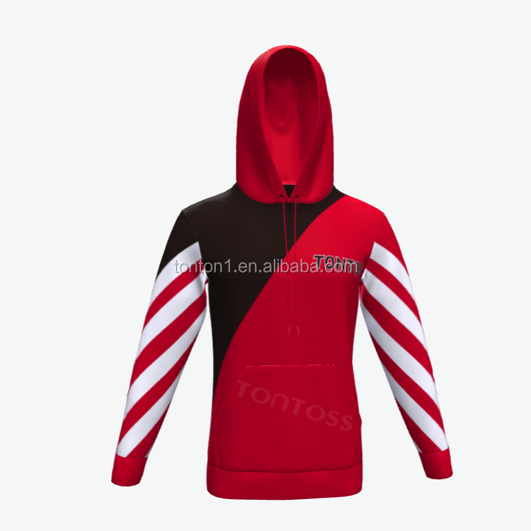 High Quality Sublimated Hoodie 100% Polyester Fleece Hoodies Mens Pullover Hoodies