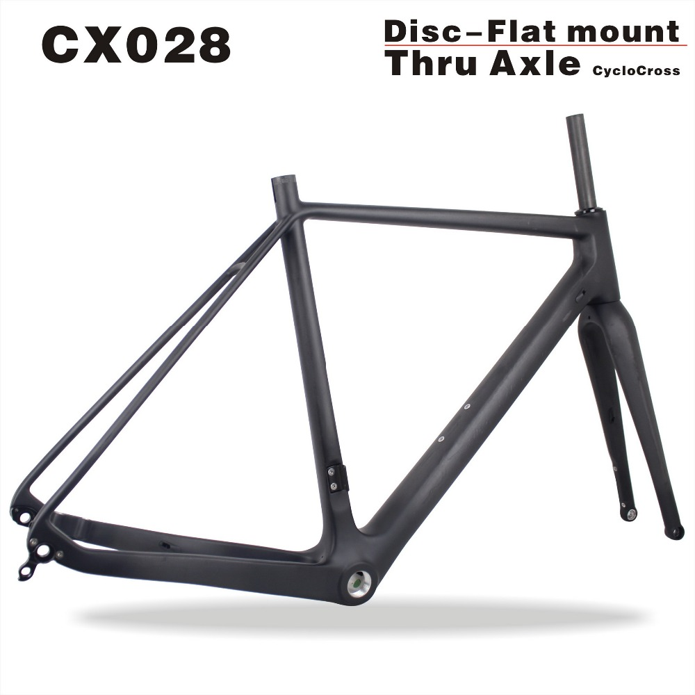 700*40C tire flat mount thru axle cyclocross frame MIRACLE new cyclocross bike CX028