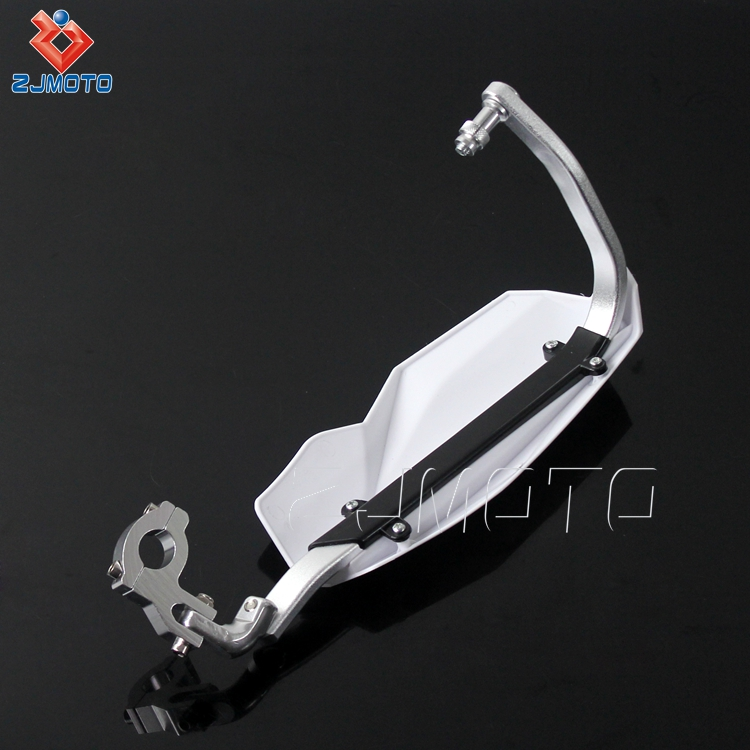 Wholesale ZJMOTO Universal White 22 mm Motorcycle Handlebar Hand Guards For Most Motorcycles