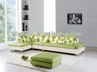 2013 newest design fabric apple green sofa set is made fabric and solid wood frame for the living house furniture