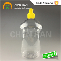 Save 20% free sample bpa free LDPE PET material 800ml 1000ml 30/50/100/250ml PET/PE plastic bottle with stretch or push pull cap