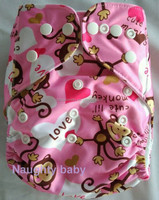 2016 New design hot sale print pocket baby cloth diapers Eco friendly reusable baby diaper cover washable baby nappy
