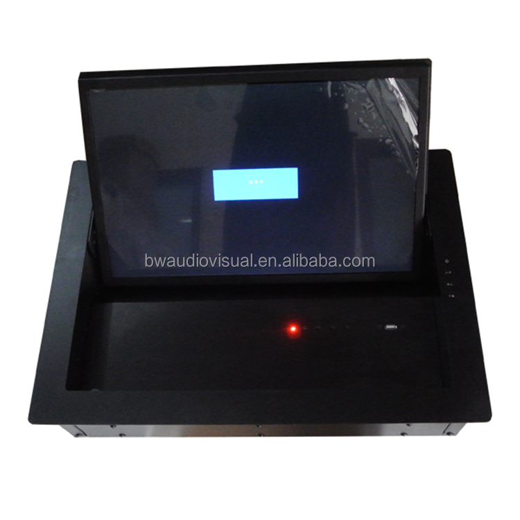 Table Top touch screen Flip Up Monitor Lifting System/LCD Computer Lift for conference room