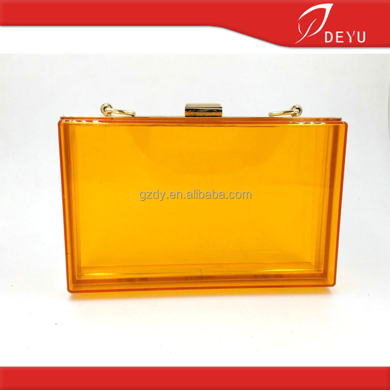 18.3*11.5cm Acrylic evening clutch bag lady evening metal bag frame wholesale