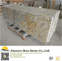 Golden Flower Pre Cut Granite Countertops For Sale