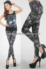 wholesale new arrival flowers tattoo print leggings for women