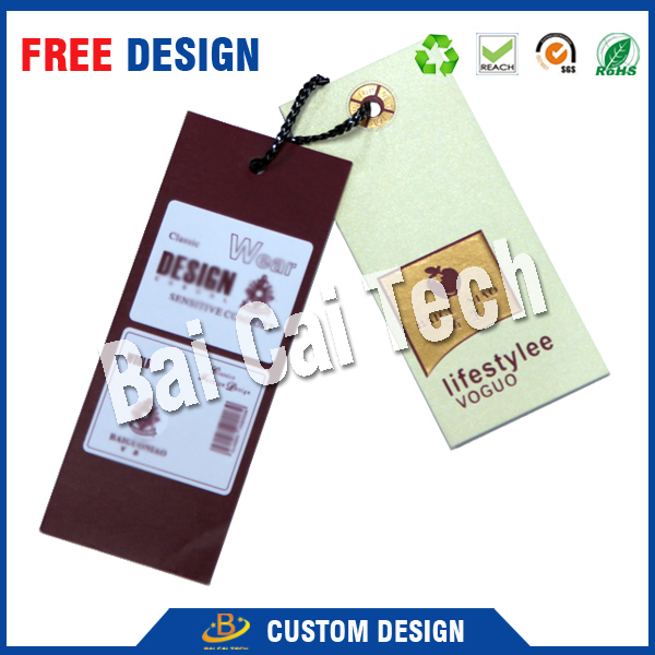 China custom wholesale cheap price clothing hang tag