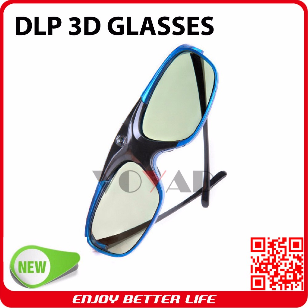 New!! Lightest (only 32g) stylish vivitek rechargeable 96~144 Hz dlp link 3d glasses