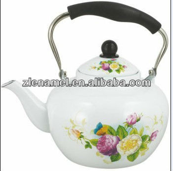 enamel teapot tea kettle with apple shape