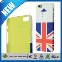 C&T Hot Uk flag rain design hard plastic mobile phone cover for iphone 6s