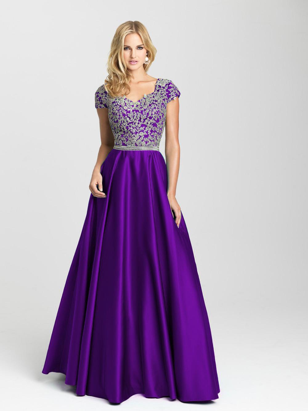 Vestido Longo Royal Blue Lace Appliqued Long Evening Dress 2018 ...