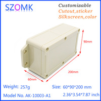 Strong szomk hinged enclosur with solid lid ip68 for electronics