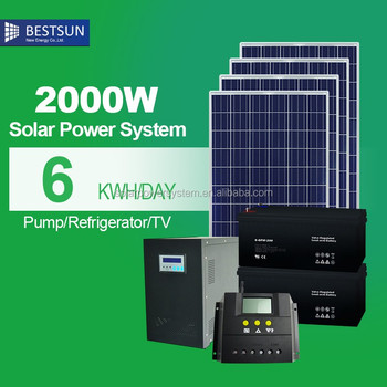 Bestsun 2KW solar energy system for on grid connect cheap solar panel poly mono 250W solar energy product