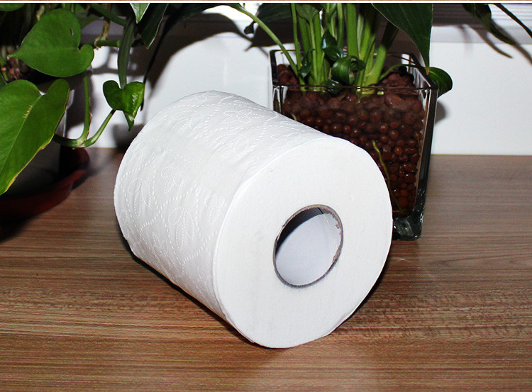 100% virgin wood pulp mini printed toilet tissue paper roll