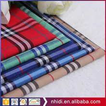 Chinese manufacturer yarn dye 100 cotton fabric plaid design for men's shirt