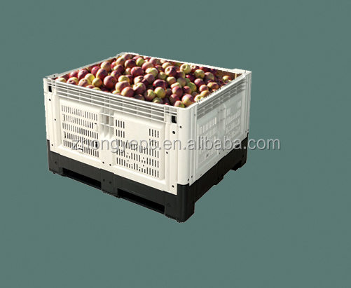 1210 logistic box collapisable pallet container collapisable pallet box foldable fruit container vegetable container