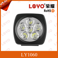 Hot Sale 60w Auto LED Work Light 12V 24V Round LED Spotlight for Excavator,Trailer, Crane