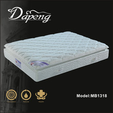 Luxury mini pocket spring pillow top soft bonnell spring mattress