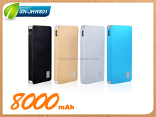2016 ultra thin power bank 8000mah fast charge li-polymer battery power bank manual for powerbank