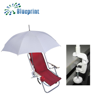White Custom with plastic Clip handle beach chair clamp Umbrella