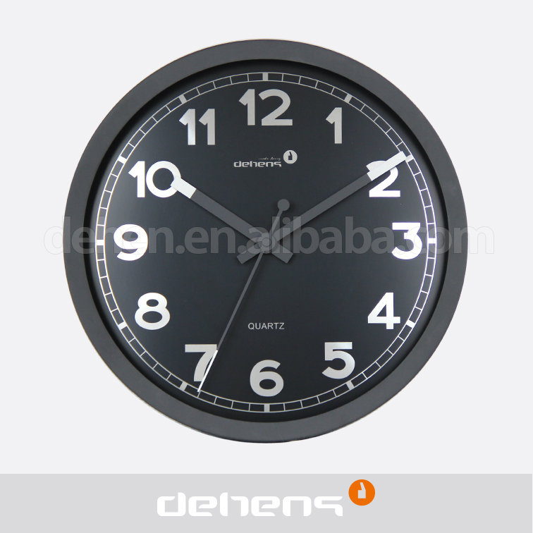 DEHENG Round shape metal clock for living room