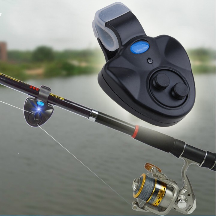 Retail !New Outdoor LED Clip Light Fishing Rod Electronic Bite Alarm Fish Ringer Battery