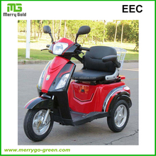 EEC approved 500W electric scooter city coco, electric trike for adults