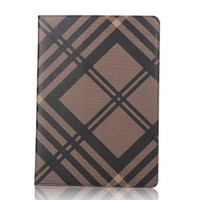 Fashion Lattice Leather Smart Stand Flip Case Cover For Apple Ipad 1,2,3