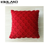 Factory price promotion hand knitting yarn red backrest cushion cover