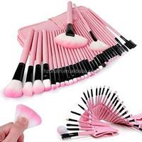 Professional 32pcs makeup Brushes Cosmetic tool Set Powder Foundation Eyeshadow Lip Brush Kit Make up Brush set free
